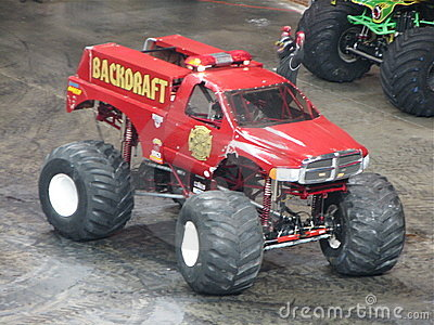 Backdraft Monster Truck Editorial Image