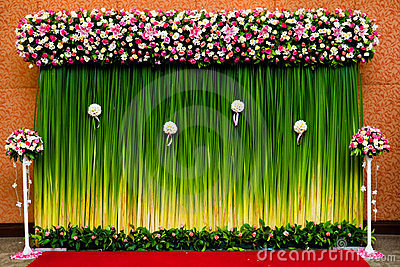 Backdrop  flowers for wedding ceremony