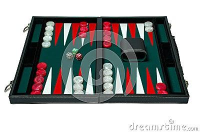 Backgammon board game - clipping path