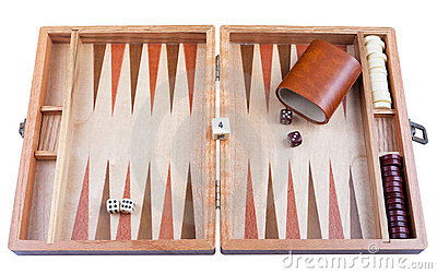 Backgammon with clipping path