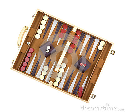 Free Backgammon Game Royalty Free Stock Photography - 25835727