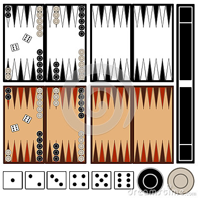Free Backgammon Game Stock Images - 41003724