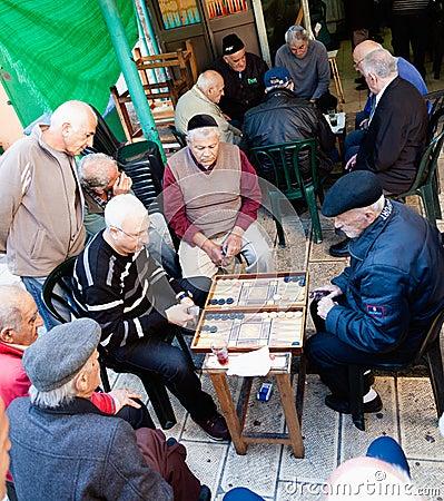 Backgammon game Editorial Stock Image