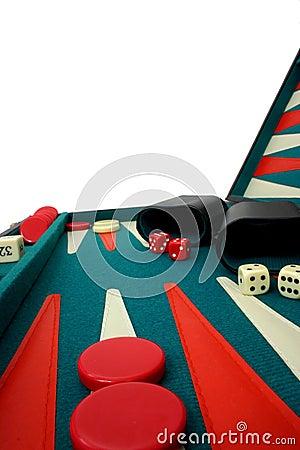 Free Backgammon Over White Stock Images - 334384