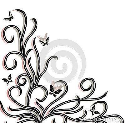 Backgrond witn butterfly