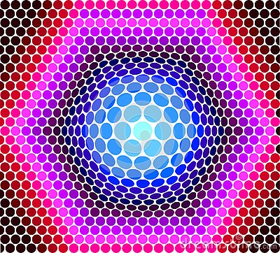 Background from circles of multi-colored Vector Illustration