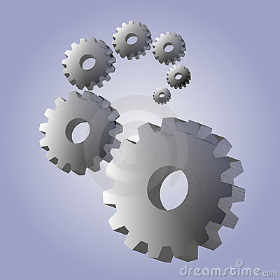Background with 3D gears
