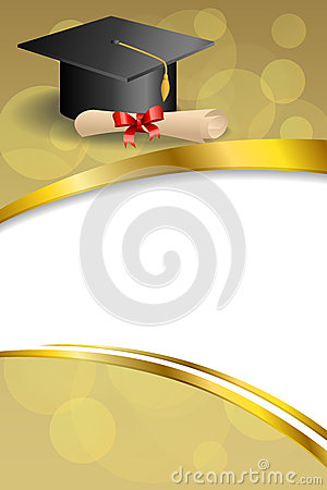 background abstract beige education graduation cap diploma