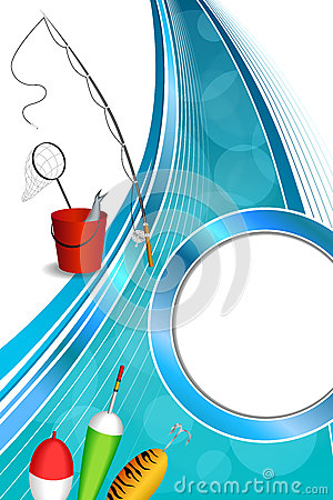 Free Background Abstract Blue White Fishing Rod Red Bucket Fish Net Float Spoon Yellow Green Vertical Frame Illustration Royalty Free Stock Photography - 61402757