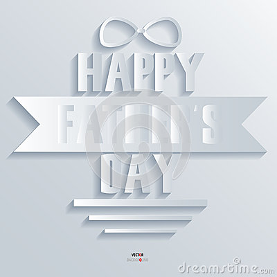 Background Abstract 3D Design Vector Illustrations Happy father day