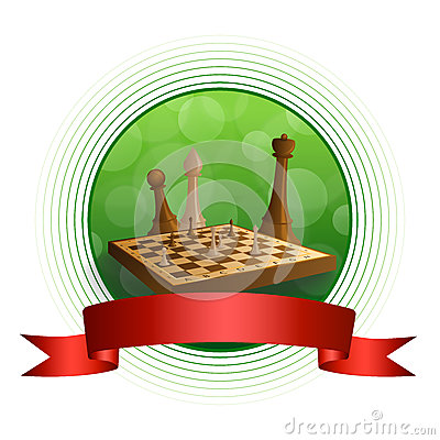 Free Background Abstract Green Chess Game Brown Beige Board Figures Red Ribbon Circle Frame Illustration Stock Photos - 56107523