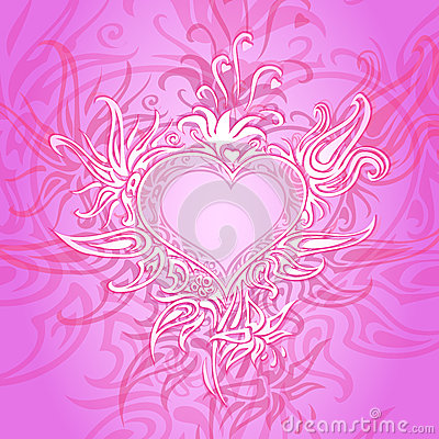 Background with abstract heart