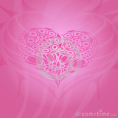 Background with abstract heart.