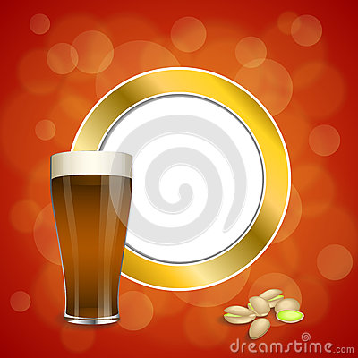 Free Background Abstract Red Gold Drink Glass Dark Beer Pistachios Circle Frame Illustration Royalty Free Stock Photo - 57786565