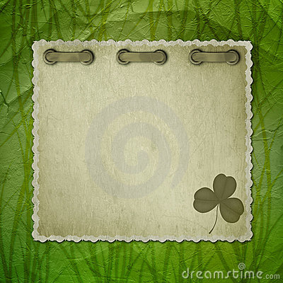 Background with ancient ornament for St. Patrick s