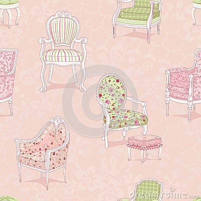 Background with armchairs