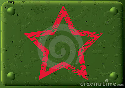 Background-armored plate&star.