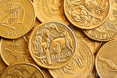 Background of Australian One Dollar Coins