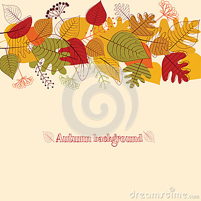 Background from autumn leaves.