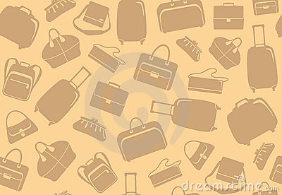 Background from bags and suitcases