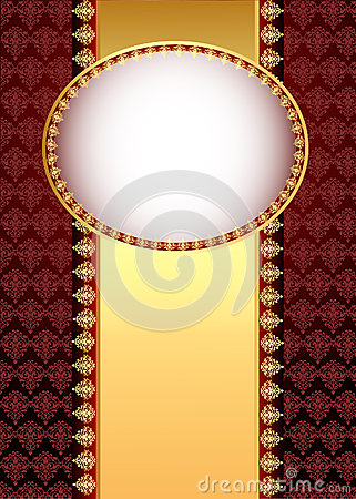 background with band  with gold(en) patt