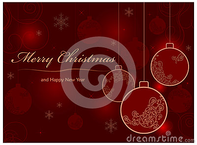 Background with baubles & text