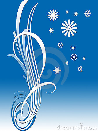 Background with a beautiful blue Design
