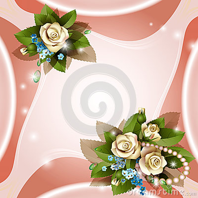 Background with beautiful white roses