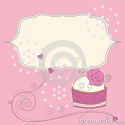 Background of birthday cake
