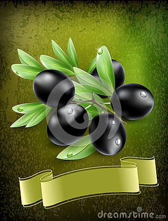 Background with black olives