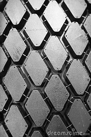 Background of black winter tyre