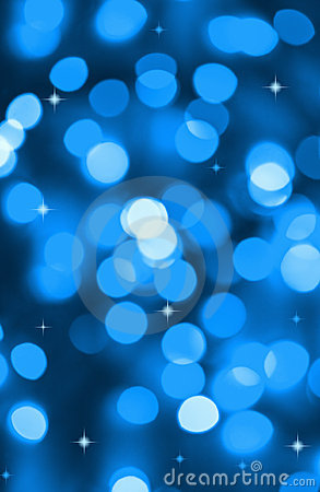 Background of blue holiday lights