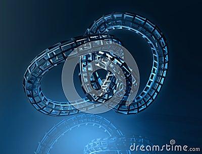 Background blue spiral