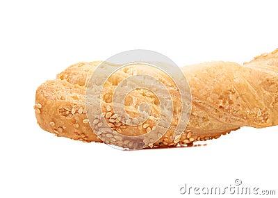 Background of bread white sesame