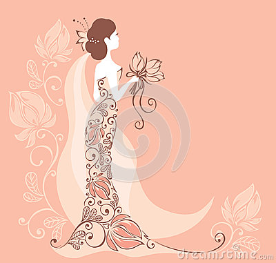 Background with a bride