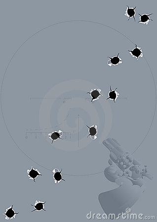 Background of bullet holes