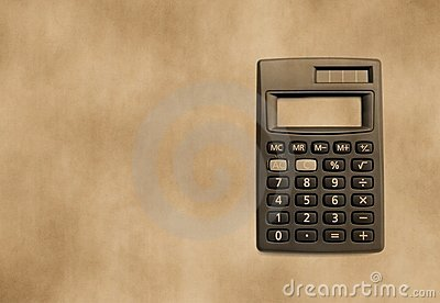Background with calculator