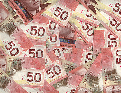 Background of Canadian fifty dollar bills