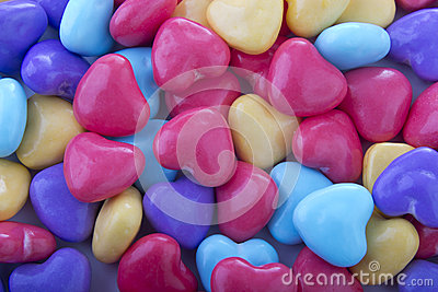Background candy hearts