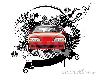 Background with a car