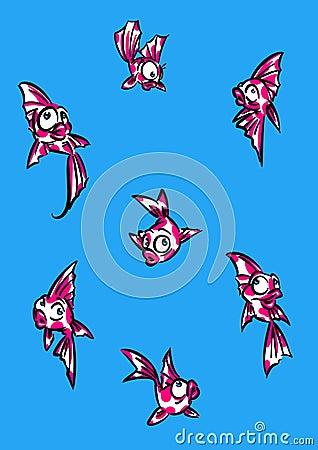 Background carp fish