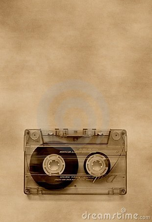 Background with cassette