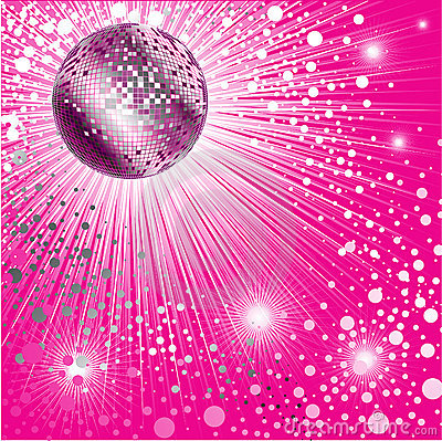 background cd cover design with discoball royalty free