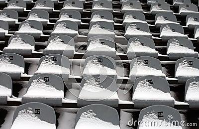 Background chairs at stadium