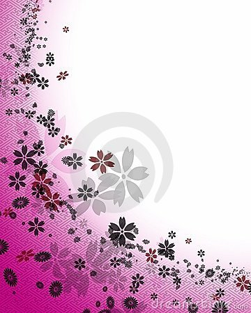Background of cherry blossoms