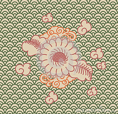 Background China ornament