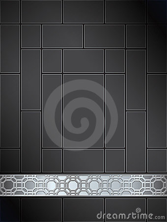 Background Chinese lattice pattern black silver