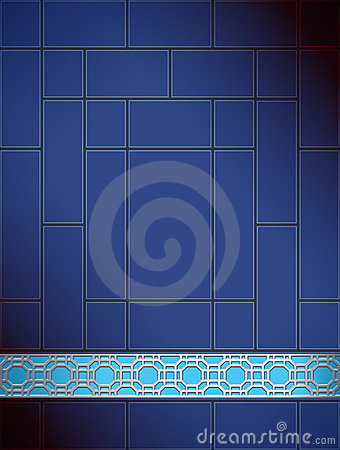 Background Chinese lattice pattern blue silver