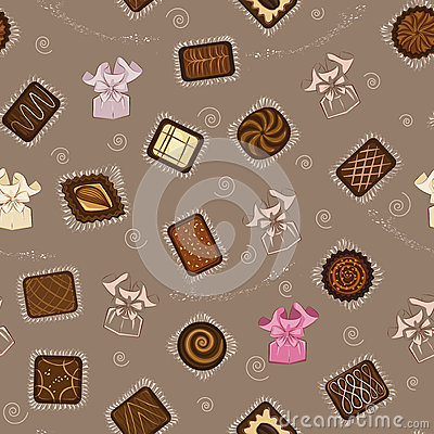 Background with chocolate candies