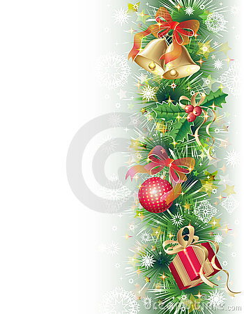 Background with christmas symbols